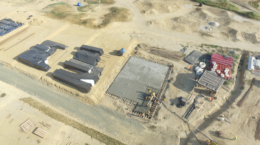 May 2016 - Aerial view of first foundation